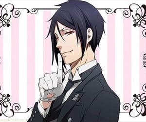 anime, smile, and black butler image