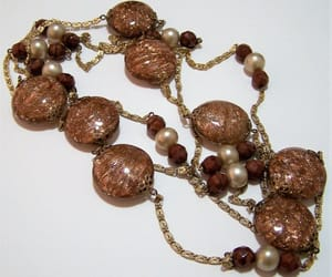 art glass, vintage jewelry, and art deco necklace image