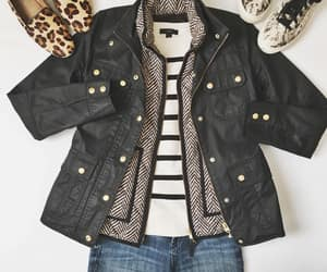 jacket, leopard print shoes, and loafers image