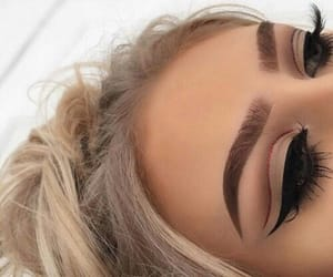 beauty, fake lashes, and eyeliner goals image