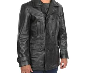 black leather coat and doctor who coat image