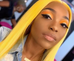 beauty, style, and yellow hair image