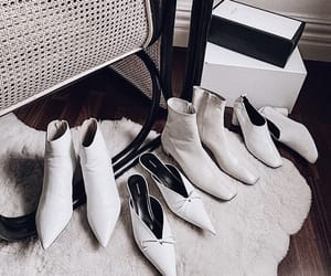 boots, white, and furniture image