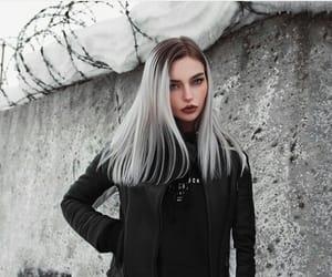 aesthetic, black, and blue eyes image