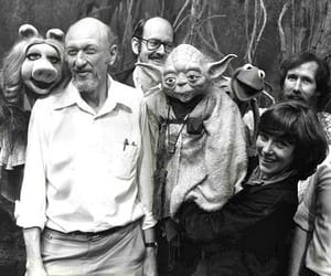 black and white, yoda, and muppets image
