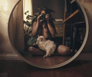 alternative, cat, and girl image