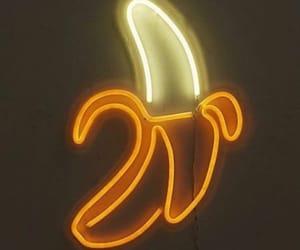 banana, neon, and light image