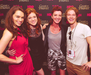 alfie allen, michelle fairley, and rose leslie image