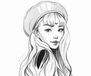 art, beret, and digital art image