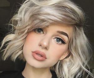 hair, makeup, and blonde image