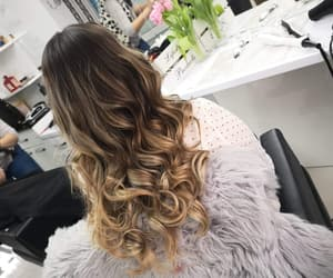 blond, hairestyle, and balayage image
