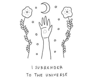 quote, surrender, and universe image