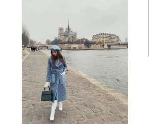 actress, blue, and coat image
