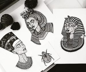 art, drawing, and egyptian image