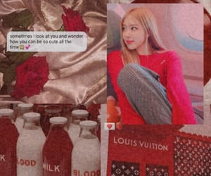 kpop, red and white, and roseanne image
