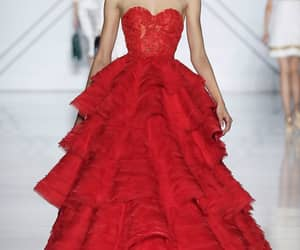 dress, runway, and gown image