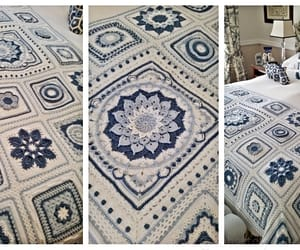 afghan, blanket, and crochet image