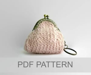 coin purse, handknit, and etsy image