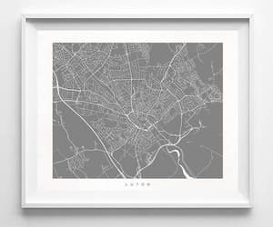 etsy, wall art, and map poster image