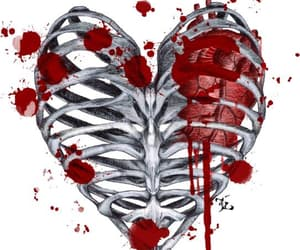creepy, heart, and heartbreak image