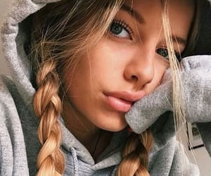 girl, braids, and hair image