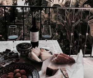 food, wine, and summer image