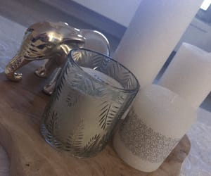 candles, deco, and elephant image