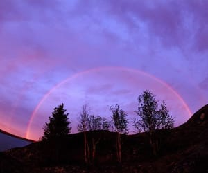 sky, purple, and rainbow image