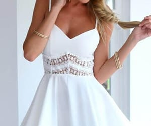 white homecoming dresses, short prom dresses, and prom dresses lace image