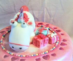 birthday cake, birthdaycake, and unicorn image
