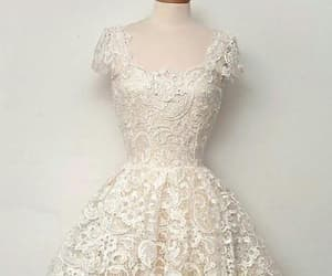 short prom dress, lace homecoming dresses, and ivory prom dress image