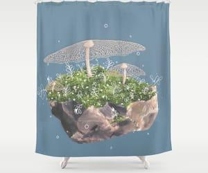 bathroom, curtain, and moss image
