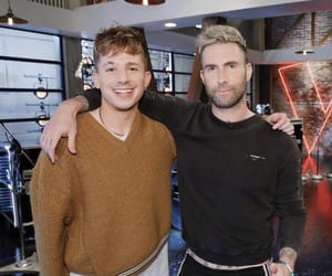 the voice, charlie puth, and adam levine image