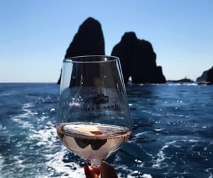 sea, wine, and ocean image
