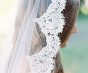 bride, veil, and love image
