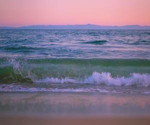 ocean, beach, and pastel image