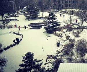 beijing, snow, and snowing image