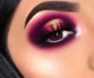 beauty, dark makeup, and eye makeup image
