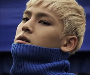 blond, dark blue, and kim mingyu image