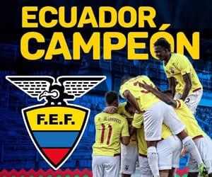 ecuador, champions, and campeones image