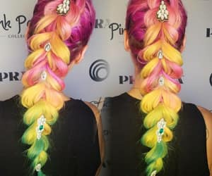 braid, cheveux, and colors image