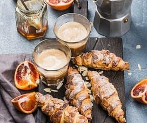 coffee, croissant, and pastry image