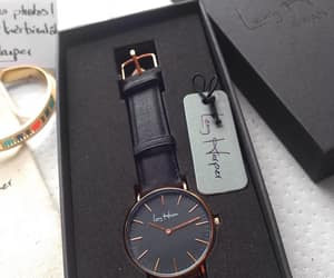 accessory, black, and montre image