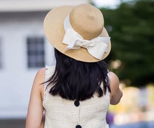 straw hat and zara blouse image