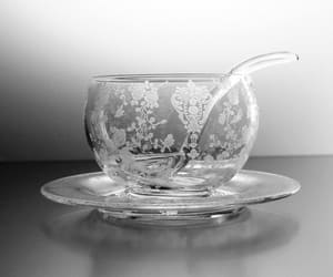 antique, cambridge, and clear glass bowl image