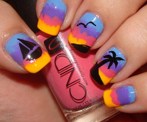 nails, beach, and summer image