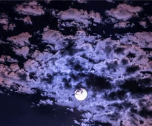 clouds, gif, and moon image