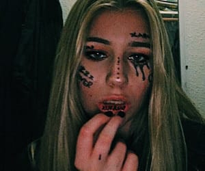 face tattoos, grunge, and face tat image