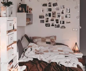 bedroom, boho, and brown image