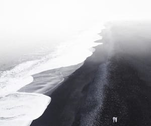 beach, black sand, and country image